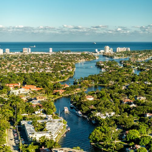 Las Olas aerial view