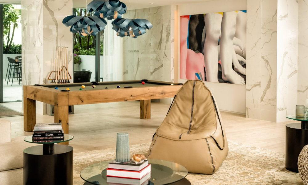 club room and pool table image