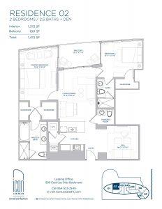 two bedroom Residence 02 floor plan image