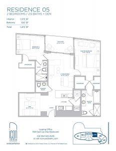 two bedroom Residence 05 floor plan image