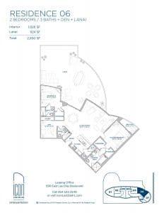 two bedroom Residence 06 floor plan image