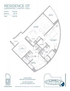 two bedroom Residence 07 floor plan image