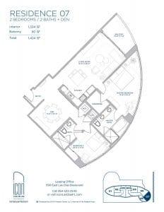 two bedroom Residence 07 floor plan image