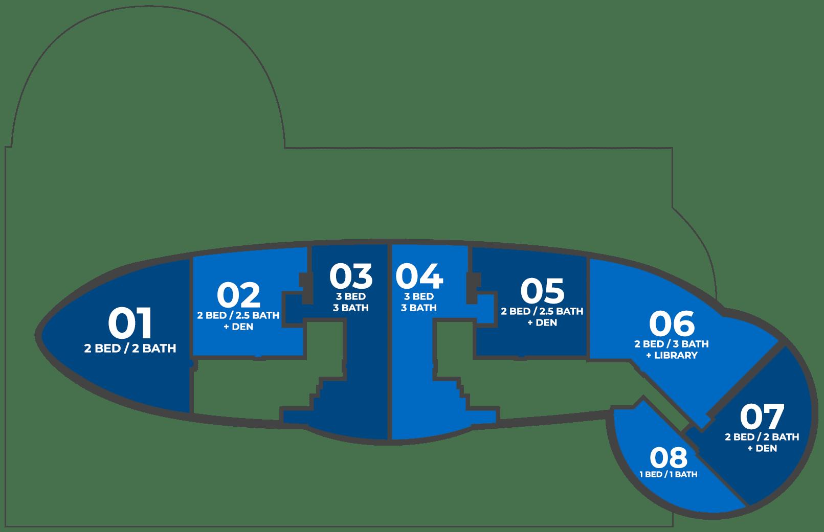 Icon Las Olas Key Plan